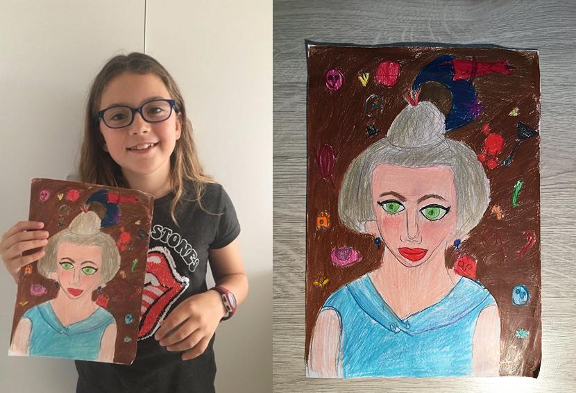 Concurso dibujo y pintura 1º Retrato de una niña (Miró, 1919)