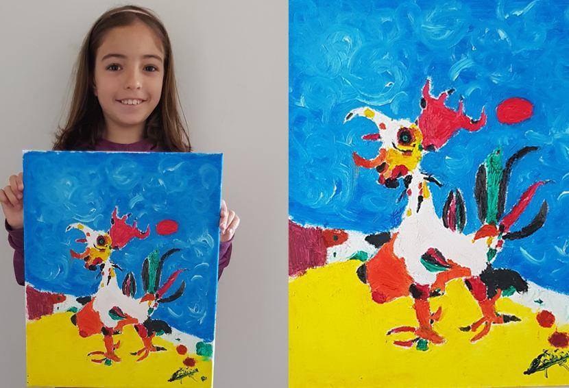 Concurso dibujo y pintura 2º clasificado El Gallo de Joan miró