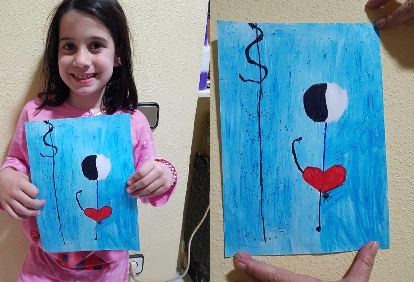 Concurso dibujo y pintura 3º premio, La Bailarina de Juan Miró